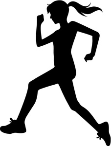 Runner pictures clip art svg black and white download Female Runner Clipart - Clipart Kid svg black and white download