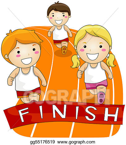 Running a race clipart banner freeuse library Drawing - Running race. Clipart Drawing gg55176519 - GoGraph banner freeuse library