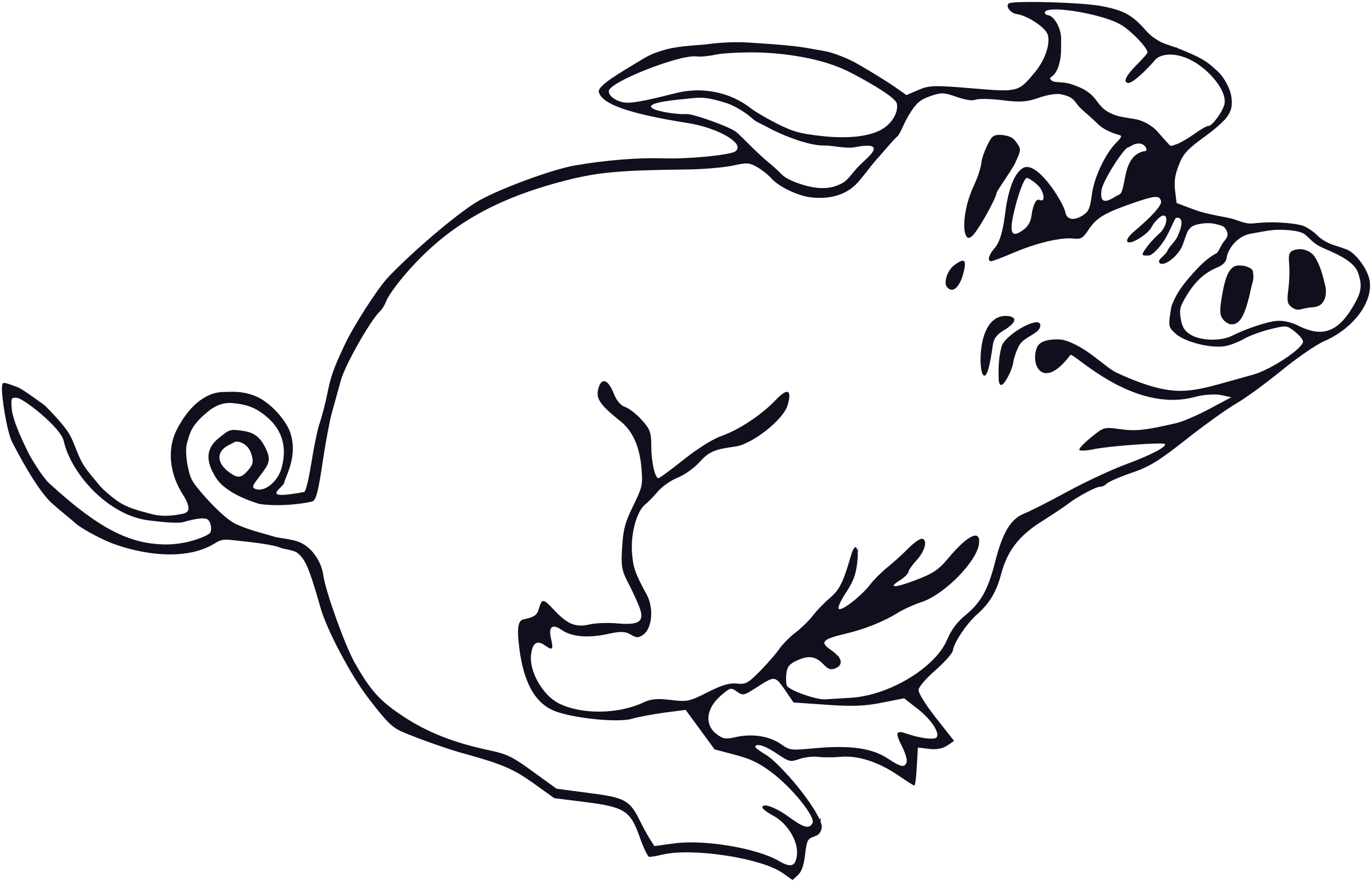 Clipart - Running pig picture transparent download