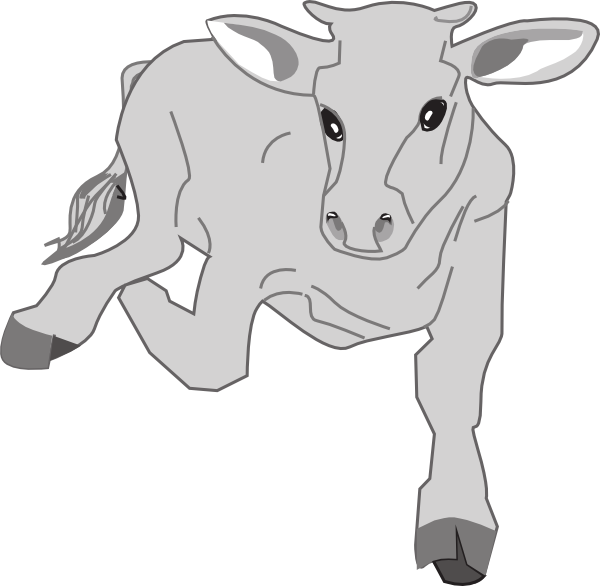 Running cow clipart picture royalty free stock Running Cow Clip Art at Clker.com - vector clip art online ... picture royalty free stock