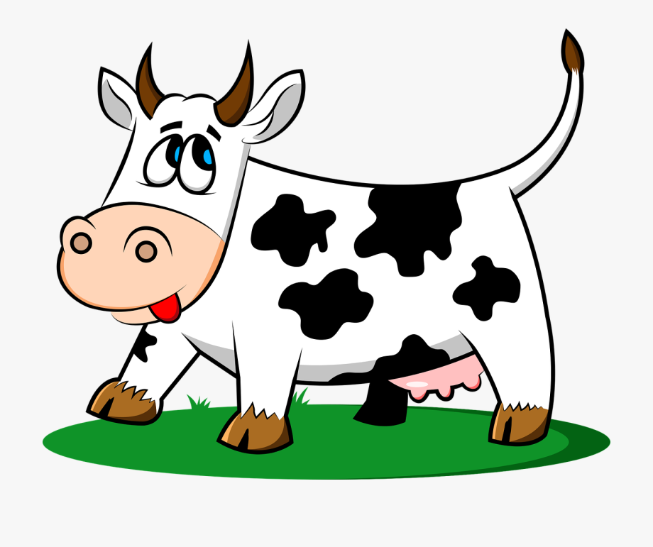 Running cow clipart image black and white download Cattle Clipart Cow Tail - Old Macdonald Farm Cow ... image black and white download