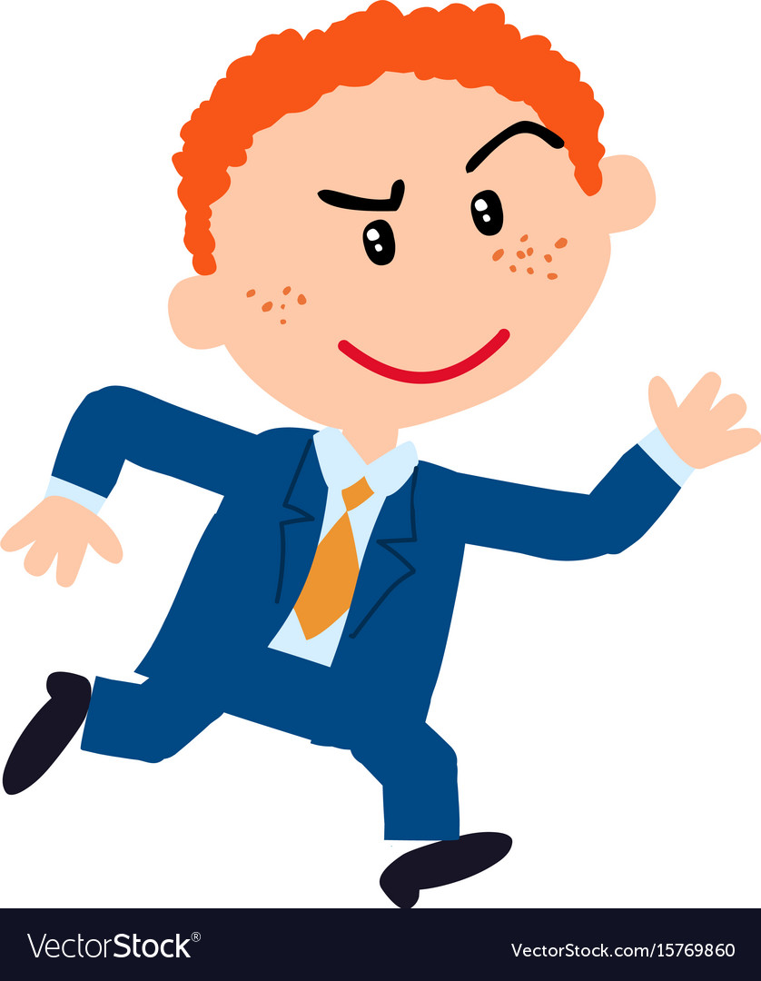 Running dressed nice clipart png black and white stock Character boy dressed like a businessman running png black and white stock