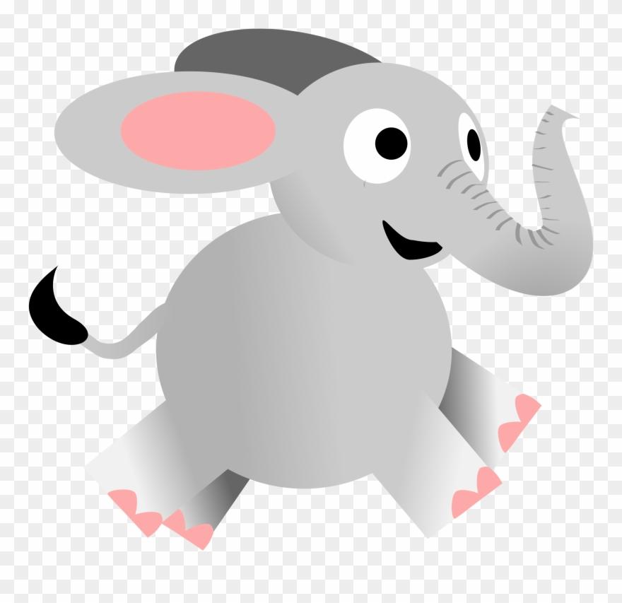 Running elephant clipart jpg free library Elephants Download - Happy Elephant Running Cartoon Clipart ... jpg free library