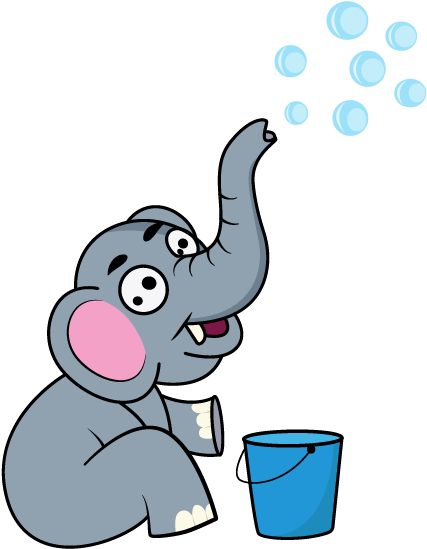 Running elephant clipart png transparent Playful Elephant - Indian Elephant Clipart - Full Size ... png transparent