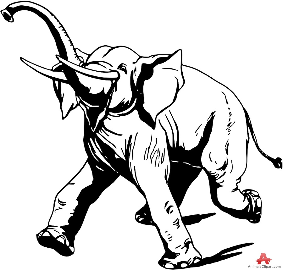 Running elephant clipart jpg Download elephant running clipart Indian elephant African ... jpg