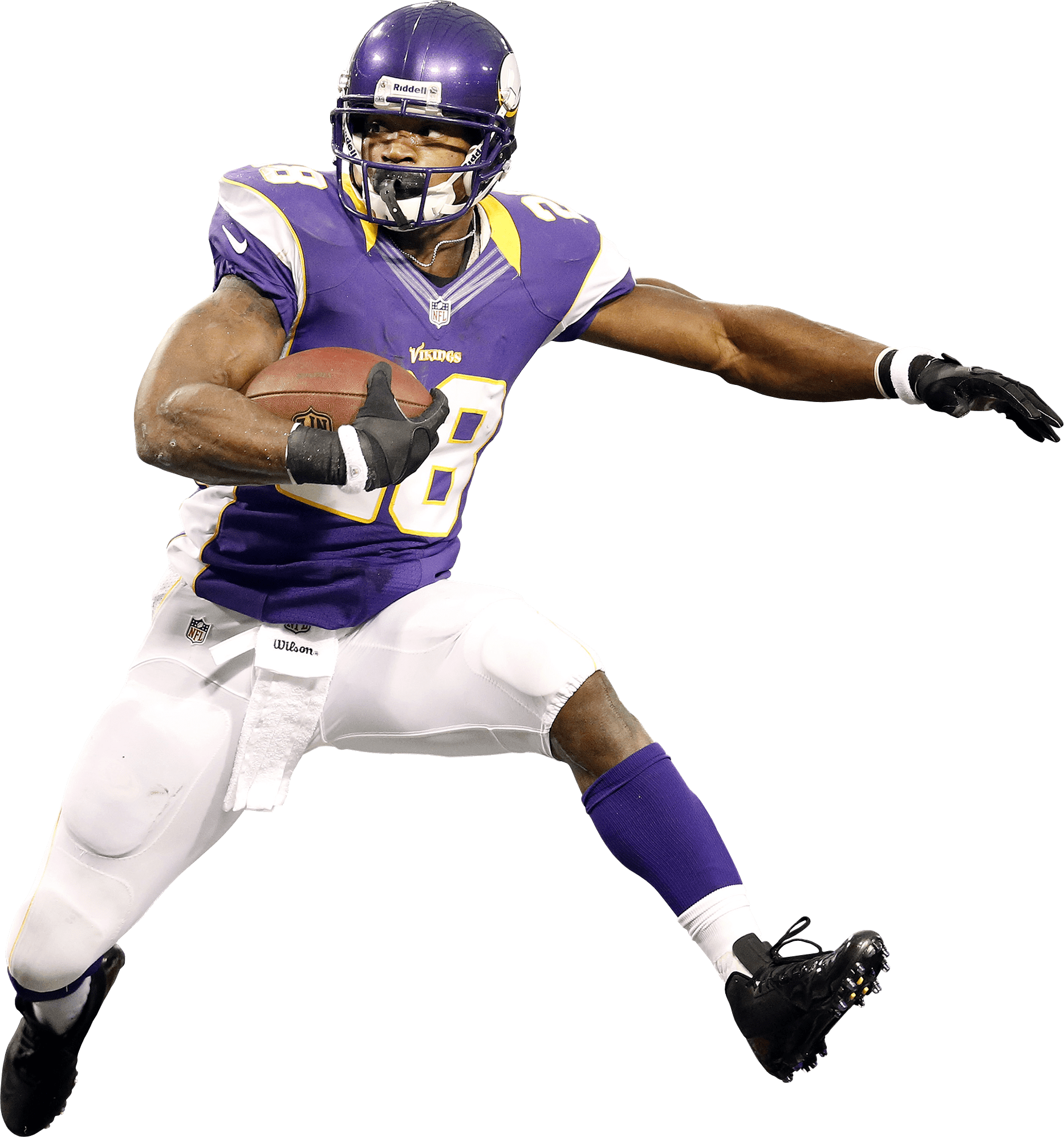 Running football player clipart graphic freeuse Adrian Peterson Running transparent PNG - StickPNG graphic freeuse