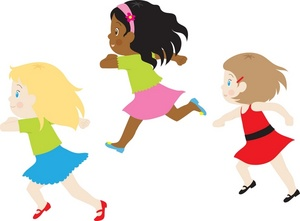 Running girl clipart svg library stock Girl running girls clipart image a group of little running ... svg library stock
