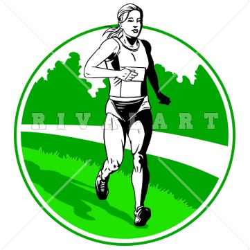 Running girl with baton clipart track and field clip art freeuse Track And Field Clipart Free   Free download best Track And ... clip art freeuse