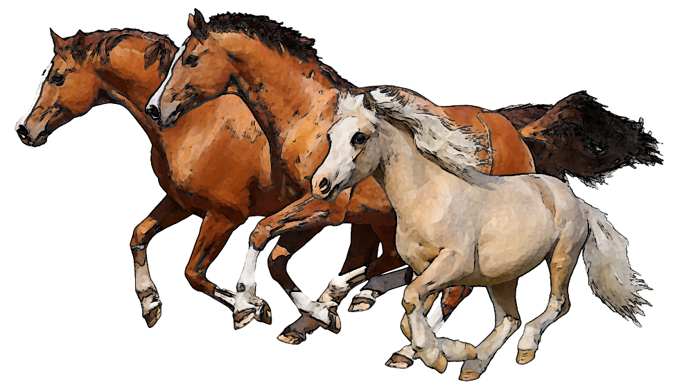 Running horses clipart free Running Horses PNG Transparent Clipart Image #7 - Free ... free