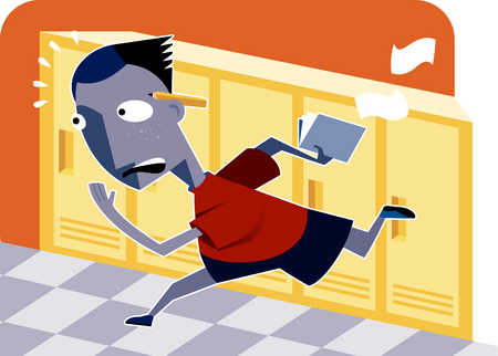 Running in the halls at school clipart clip art stock Running In The Hallway Clipart clip art stock