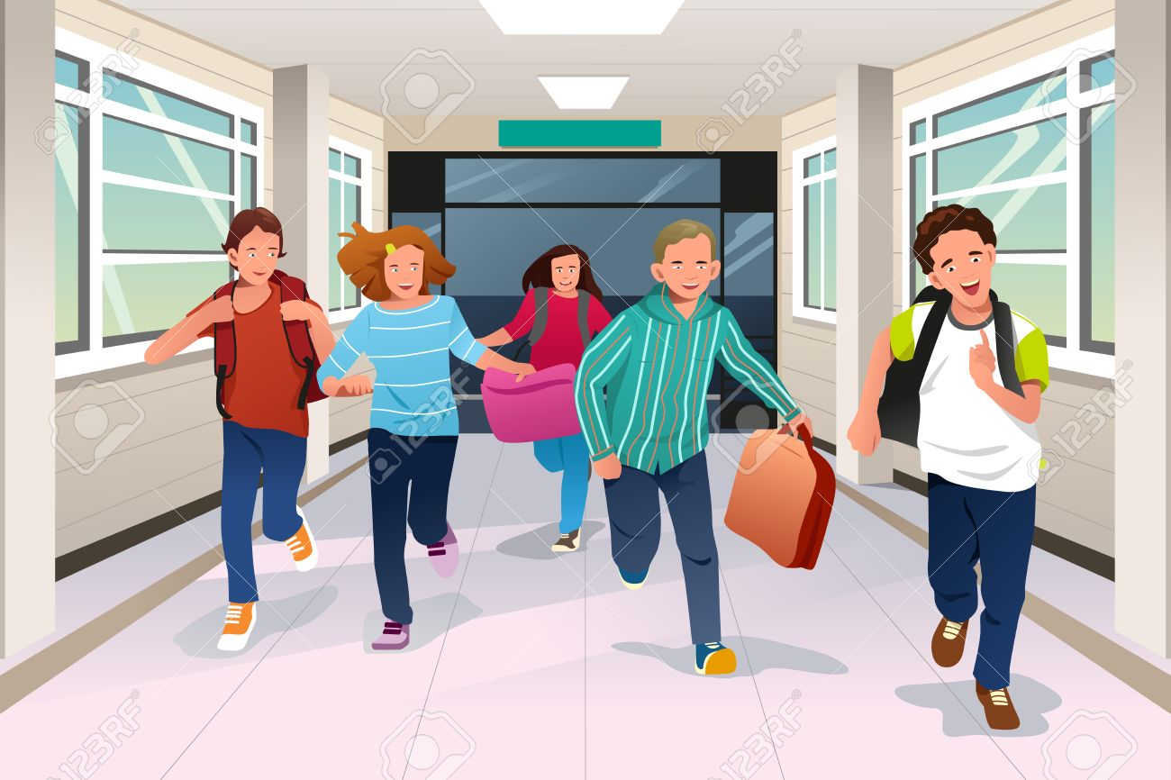 Running in the halls at school clipart graphic free download Running In The Hallway Clipart graphic free download