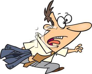 Running late clipart picture download A Man Running Late To Work - Royalty Free Clipart Picture picture download