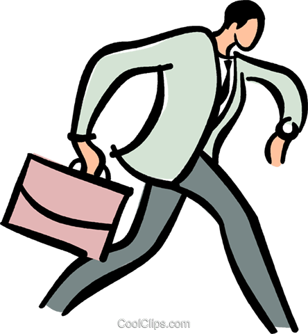 Running late clipart image stock businessman running late for a meeting Royalty Free Vector ... image stock
