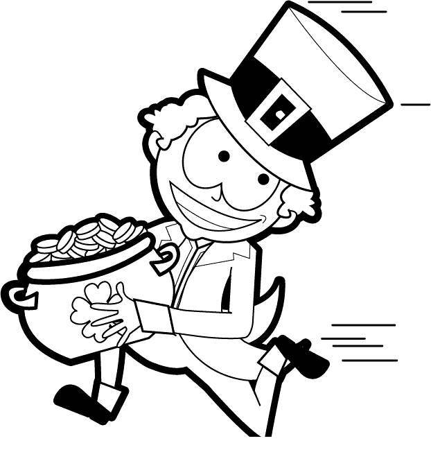 Running leprechaun clipart image free download Leprechaun Black And White Clipart Bw Run - Clipart1001 ... image free download