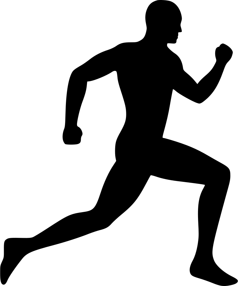 Running Man Silhouette Clip Art Free at GetDrawings.com | Free for ... jpg black and white