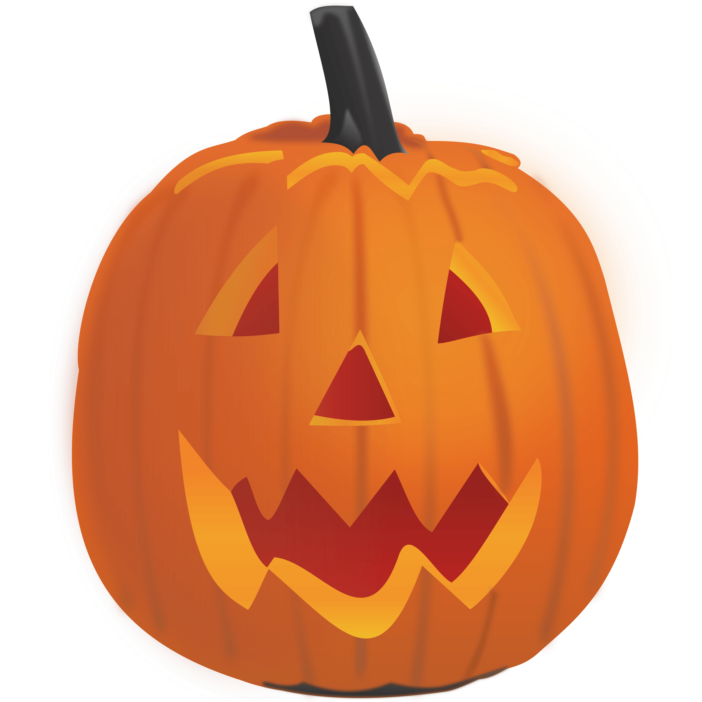 Running pumpkin clipart image black and white library Halloween Profile Cliparts Free collection | Download and share ... image black and white library