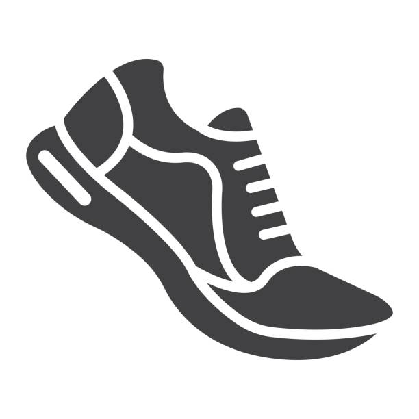 Top of shoe clipart clipart black and white stock Top 60 Running Shoes Clip Art Vector Graphics And ... clipart black and white stock