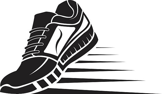 Running shoes clipart image black and white library 9+ Running Shoes Clipart | ClipartLook image black and white library