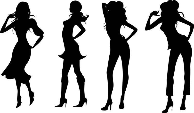 Model silhouette clipart svg stock Pics For > Runway Model Silhouette | Model Silhouette ... svg stock