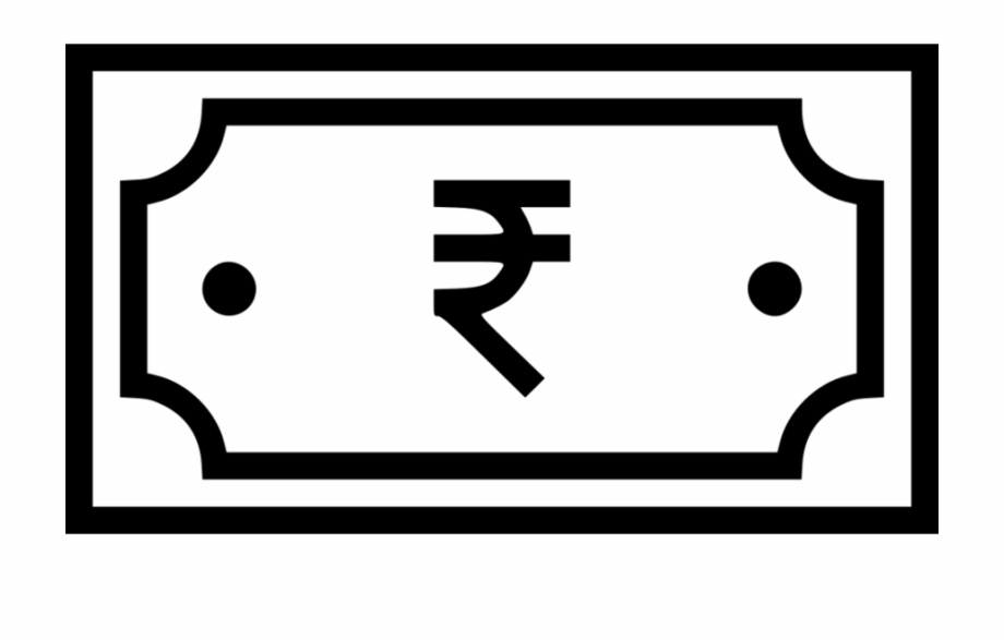 Rupee symbol clipart white black and white library Indian Note Icon Clipart Indian Rupee Sign Computer - Indian ... black and white library