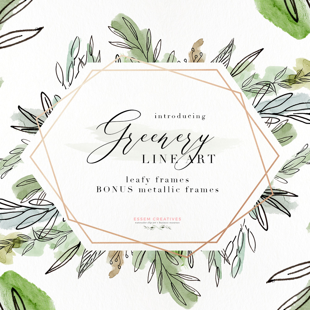 Watercolor greenery clipart royalty free download Watercolor Greenery Line Art PNG Clipart, Tropical Rustic Botanical Wedding  Invitation Logo Branding royalty free download