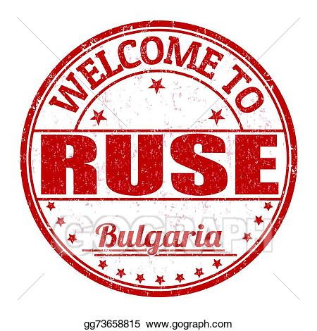 Ruse clipart banner library download Vector Clipart - Welcome to ruse stamp. Vector Illustration ... banner library download