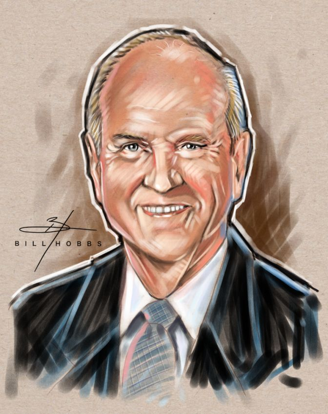 Russel m nelson clipart clip freeuse Bill Hobbs Artist - Portraits and Caricatures clip freeuse