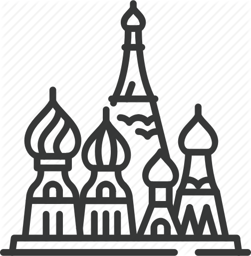 Russia icon clipart picture black and white download \'Country Landmarks and Destinations 2\' by Mark Eugenio picture black and white download