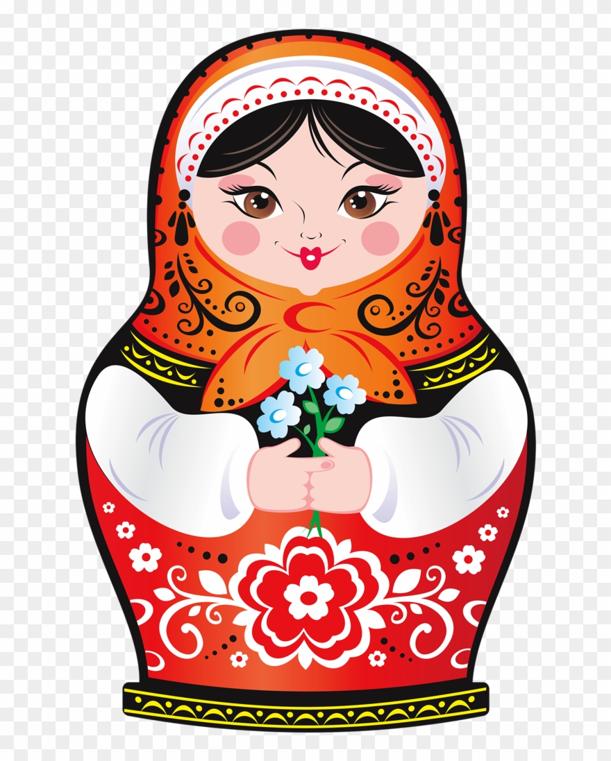 Russian clipart banner black and white download Russian Nesting Dolls Clipart - Russian Doll - Png Download ... banner black and white download