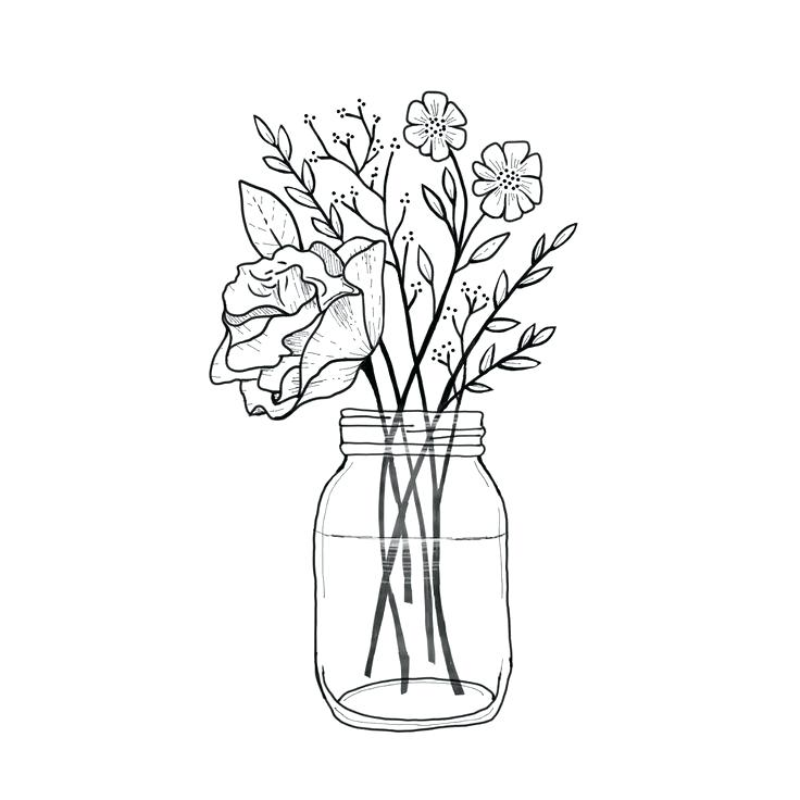 Rustic clipart black and white flowers in mason jar clip library library rustic clipart black and white flowers mason jar ... clip library library