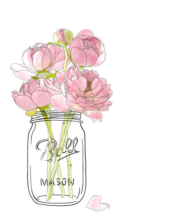 Rustic clipart black and white flowers in mason jar clipart free ball mason jars flower series - Google Search | Printables ... clipart free