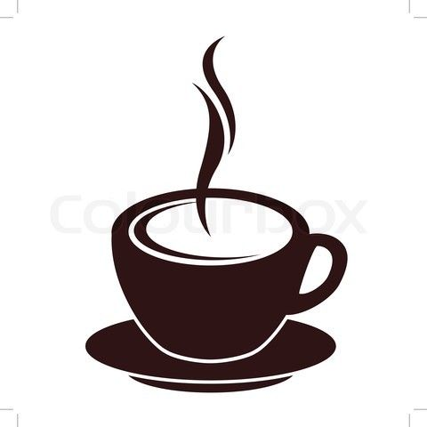 Rustic coffee mug clipart picture transparent library cartoon images of coffee cup | Stock vector of \'Silhouette ... picture transparent library
