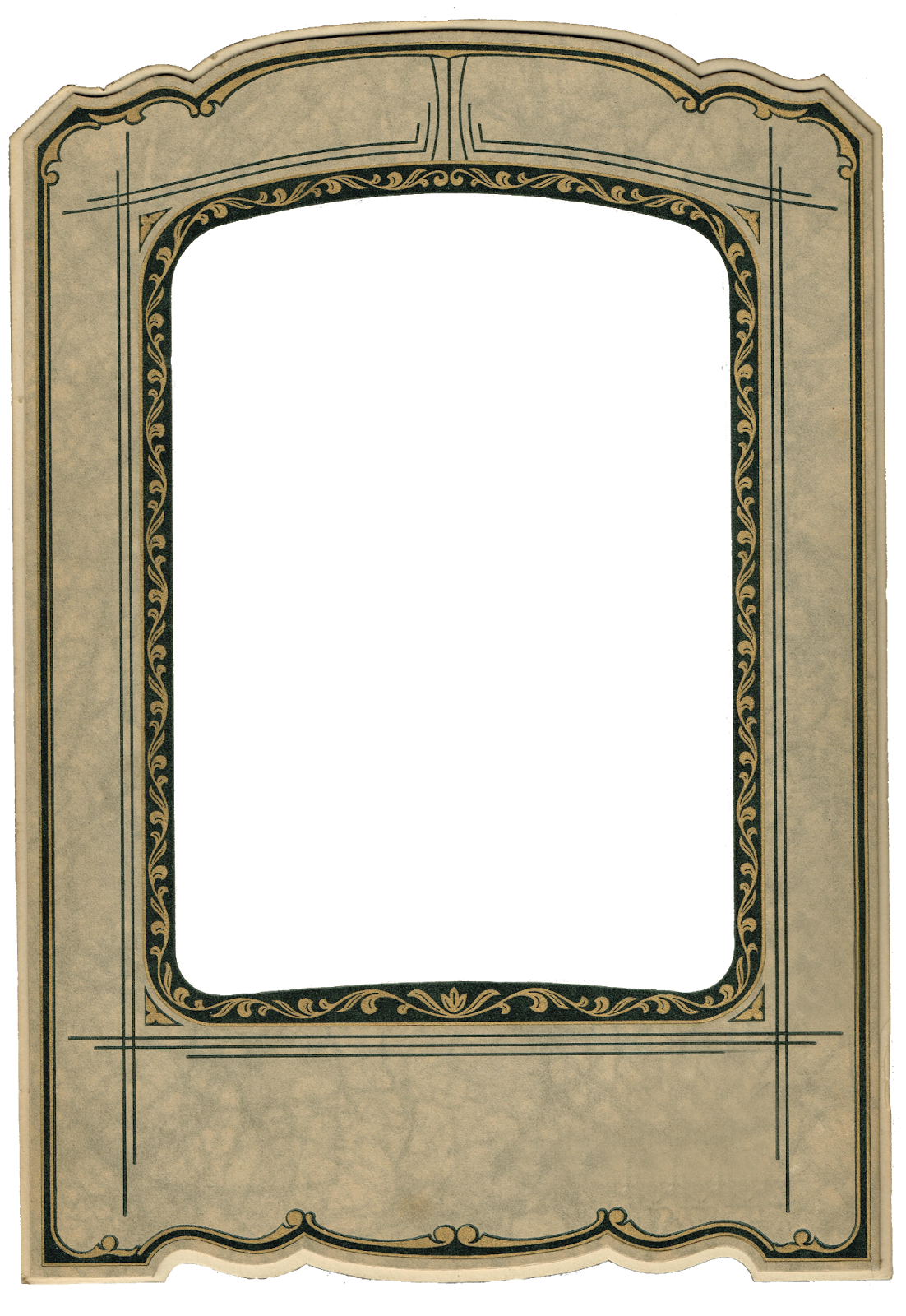 Rustic crown clipart clip freeuse Antique Photo Frame - Antique Graphics Wednesday   Knick of Time clip freeuse