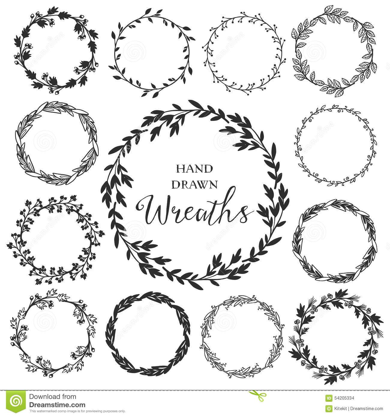 Rustic flower clipart black and white picture royalty free library Image result for rustic floral circle black and white ... picture royalty free library