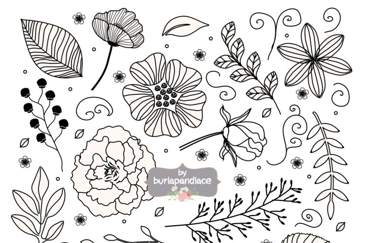 Rustic flower clipart black and white png stock Free Rustic Leaves Cliparts, Download Free Clip Art, Free ... png stock