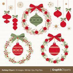 Rustic ornaments clipart