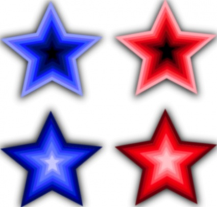 Rustic red white and blue star clipart banner black and white download Free Pictures Of Red Stars, Download Free Clip Art, Free ... banner black and white download