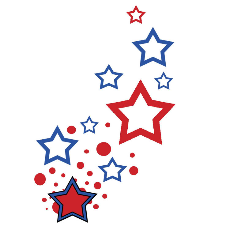 Rustic red white and blue star clipart jpg free Row Of Stars Clipart | Free download best Row Of Stars ... jpg free