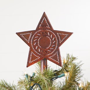 Rustic red white and blue star clipart jpg royalty free download Rustic Star Tree Topper | Wayfair jpg royalty free download