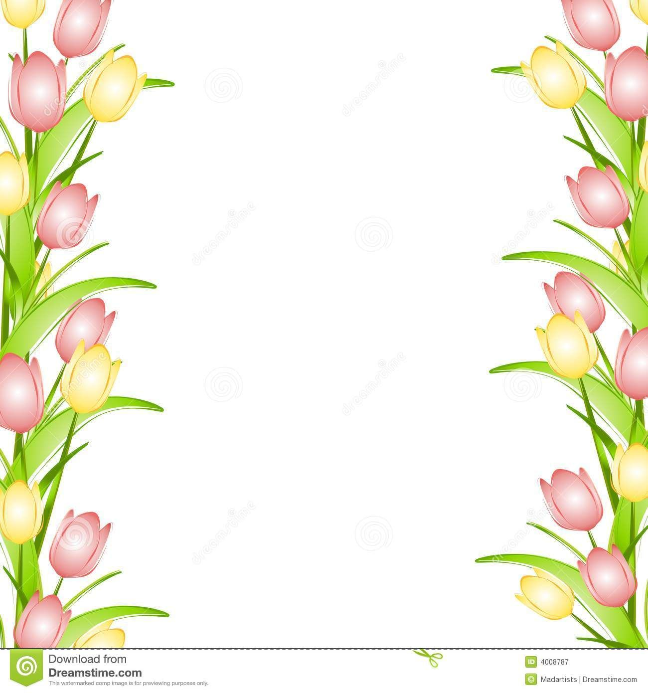 Rustic springtime clipart borders clip freeuse stock Pink Flower Border Clip Art Pink Yellow Spring Tulips Flower ... clip freeuse stock
