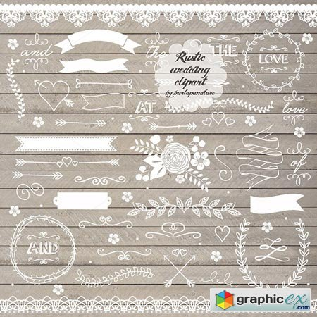 Rustic wedding clipart free download svg library stock Creativemarket Rustic wedding clipart II. 26178 » Free ... svg library stock