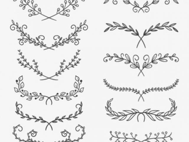 Rusticgarland clipart svg black and white Rustic Garland Cliparts 5 - 340 X 270 - Making-The-Web.com svg black and white