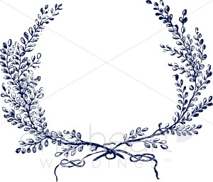 Rusticgarland clipart picture stock Blue Wreath Clipart | Wedding Leaf picture stock