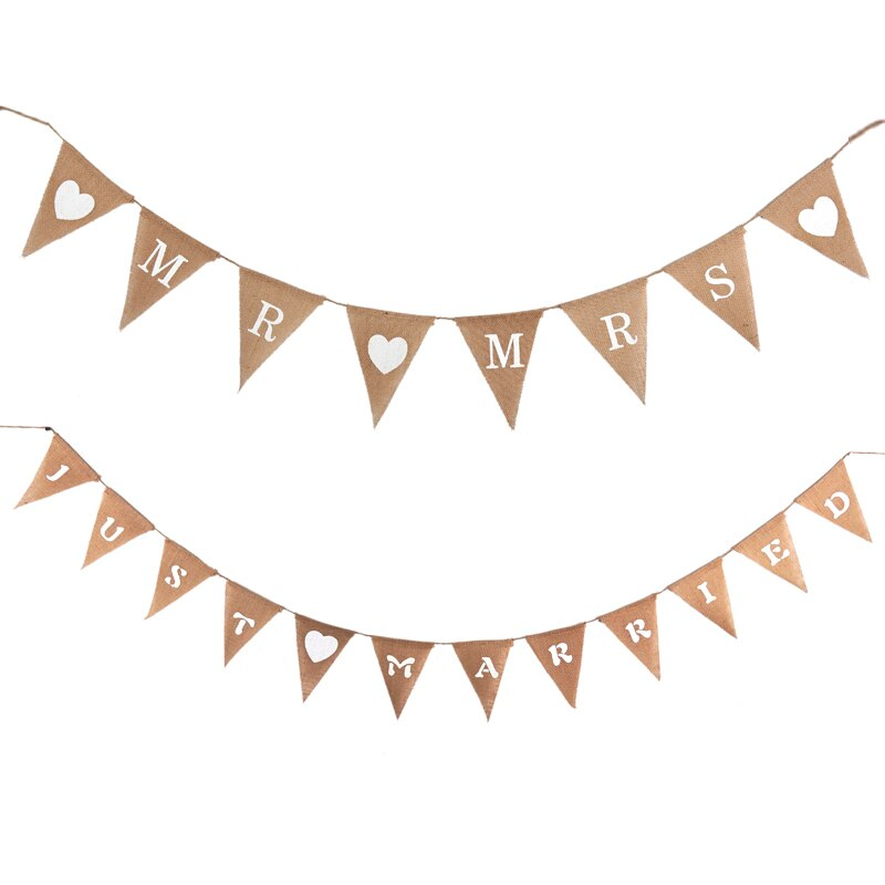 Rusticgarland clipart clipart black and white library US $4.05 30% OFF|Free Ship Mr & Mrs Wedding Photo Props Vintage Banner Jute  Burlap Bunting Married Rustic Garland Party Hanging Decoration-in Banners,  ... clipart black and white library