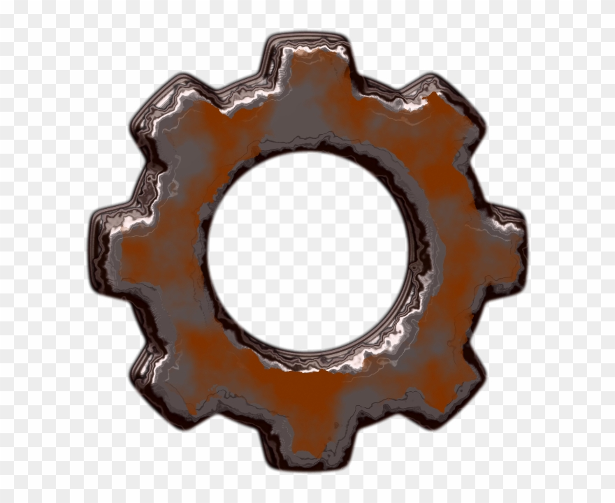 Rusty clipart image royalty free Gear - Rusty Gears Transparent Background Clipart (#271192 ... image royalty free