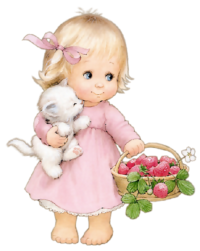 ❤️Fruit ~ Strawberry girl ~ Artist Ruth Morehead | Tatty Bears and ... png free download