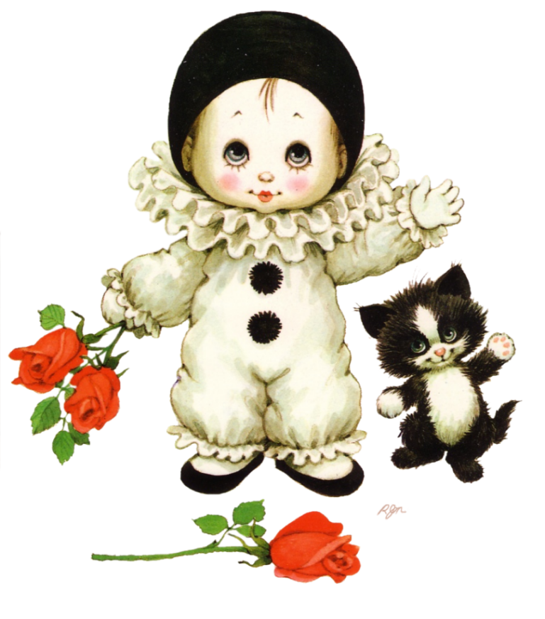 Printable - Pierrot - Ruth Morehead | Pierrot clowns | Pinterest ... svg stock