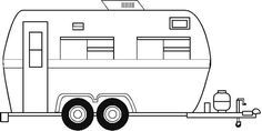 Rv clipart black and white clip royalty free library Image result for camper clipart black white | Camping ... clip royalty free library