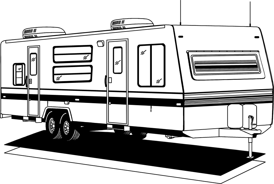 Rv clipart black and white vector transparent stock Free Camper Silhouette Cliparts, Download Free Clip Art ... vector transparent stock