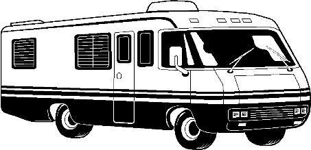Rv clipart logo svg freeuse Cartoon RV Motorhome Clip Clipart | craft | Motorhome ... svg freeuse